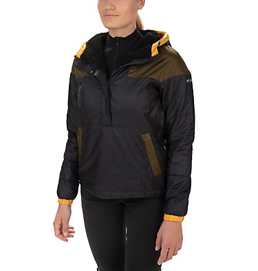 Women's Columbia Lodge Pullover Jacket Columbia Lodge™ Pullover Jacke | 191 | S, Black, Olive Green, front