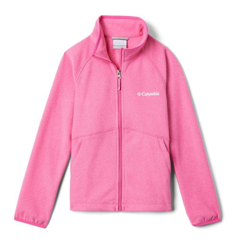 Muir Pass™Fleece Full Zip | 695 | XL Kids' Muir Pass™Fleece Jacket, Pink Ice, Pink Clover Stripe, front