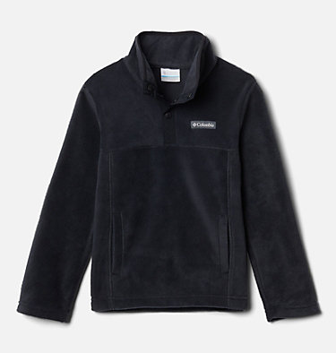 Kids' Steens Mountain™ 1/4 Snap Fleece Pull-Over Steens Mtn™ 1/4 Snap Fleece Pull-over | 013 | L, Black, front