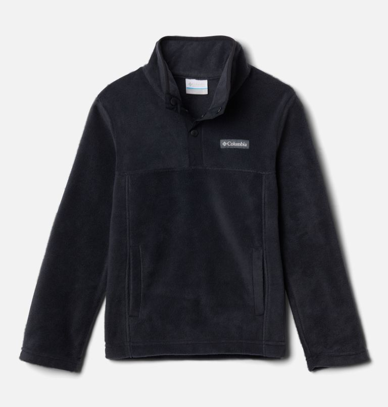 Steens Mtn™ 1/4 Snap Fleece Pull-over | 013 | XS Kids' Steens Mountain™1/4 Snap Fleece Pull-Over, Black, front