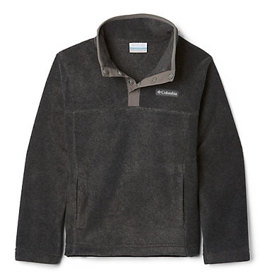 Girls' Steens Mtn™ Fleecepullover Steens Mtn™ 1/4 Snap Fleece Pull-over | 466 | XS, Charcoal Heather, front