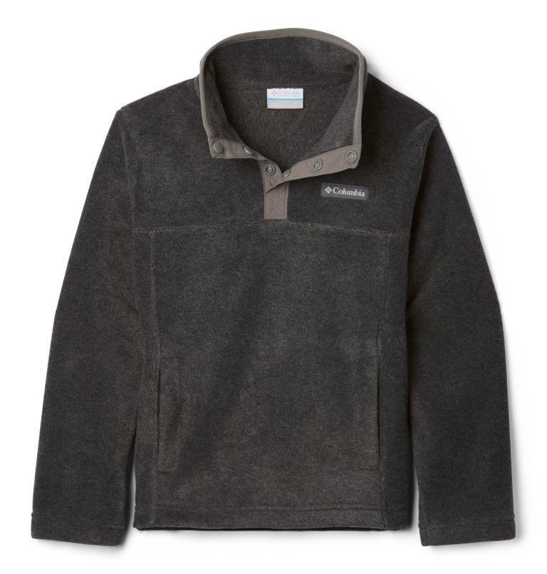 Steens Mtn™ 1/4 Snap Fleece Pull-over   030   XL Kids' Steens Mountain™1/4 Snap Fleece Pull-Over, Charcoal Heather, front