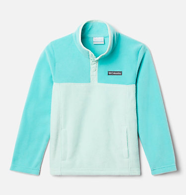 Kids' Steens Mountain™ 1/4 Snap Fleece Pull-Over Steens Mtn™ 1/4 Snap Fleece Pull-over | 013 | L, Sea Ice, Dolphin, front