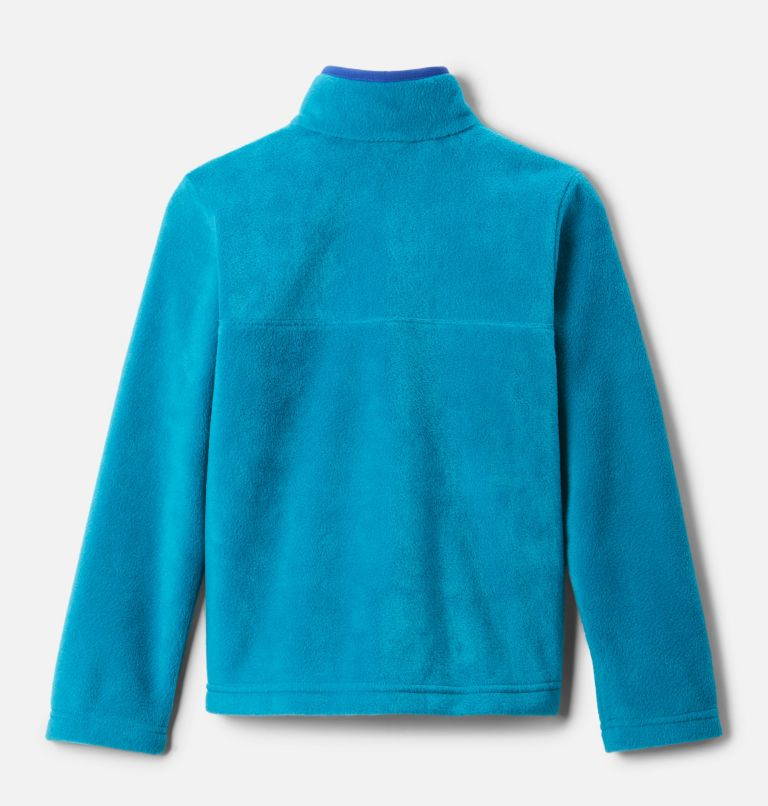 Steens Mtn™ 1/4 Snap Fleece Pull-over | 462 | M Kids' Steens Mountain™1/4 Snap Fleece Pull-Over, Fjord Blue, Lapis Blue, back