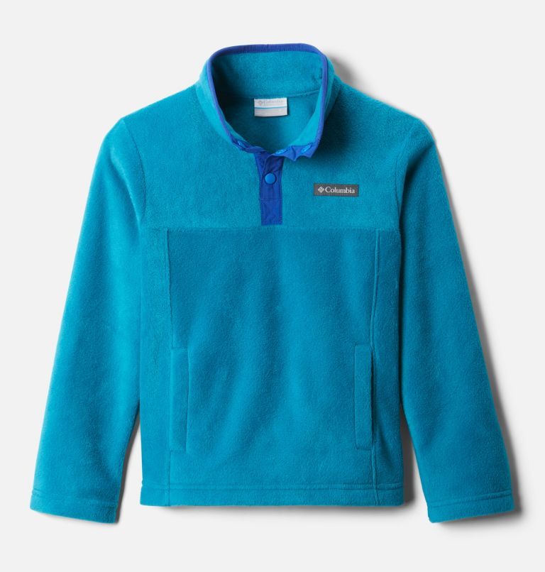 Steens Mtn™ 1/4 Snap Fleece Pull-over | 462 | M Kids' Steens Mountain™1/4 Snap Fleece Pull-Over, Fjord Blue, Lapis Blue, front