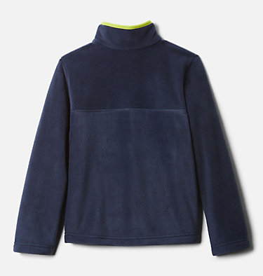 Girls' Steens Mtn™ Fleecepullover Steens Mtn™ 1/4 Snap Fleece Pull-over | 466 | XS, Collegiate Navy, Bright Chartreuse, back