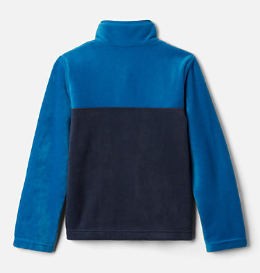Pullover in pile Steens Mtn™ Bambini Steens Mtn™ 1/4 Snap Fleece Pull-over | 466 | XS, Collegiate Navy, Bright Indigo, back