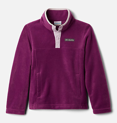 Girls' Steens Mtn™ Fleecepullover Steens Mtn™ 1/4 Snap Fleece Pull-over | 466 | XS, Plum, front