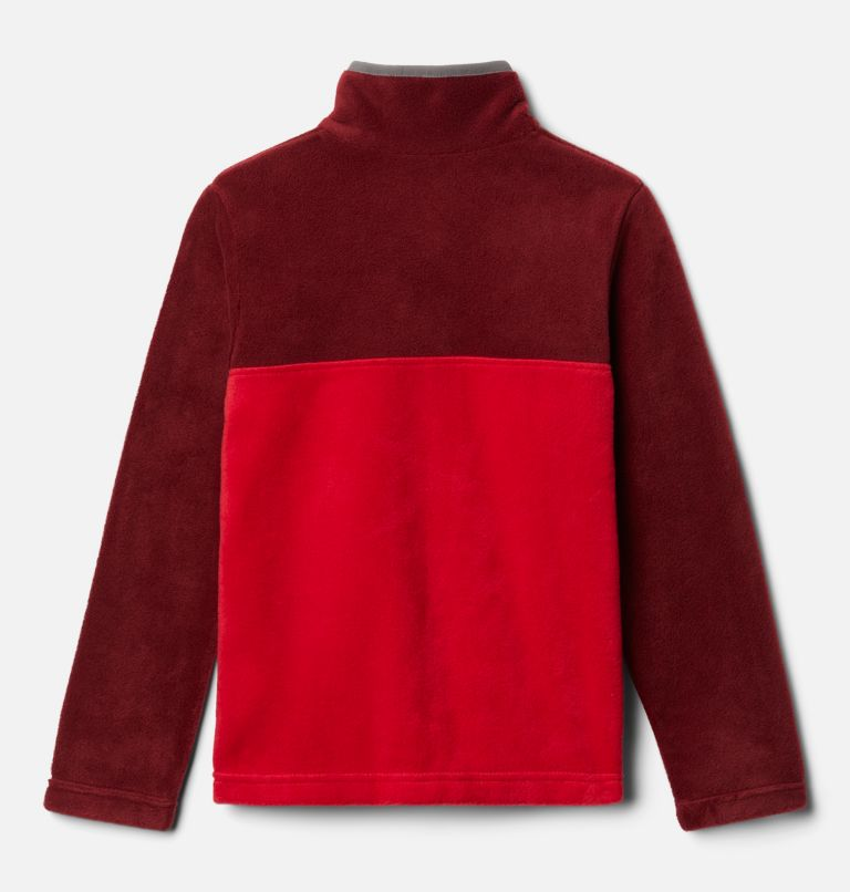 Steens Mtn™ 1/4 Snap Fleece Pull-over | 614 | M Kids' Steens Mountain™1/4 Snap Fleece Pull-Over, Mountain Red, Red Jasper, back
