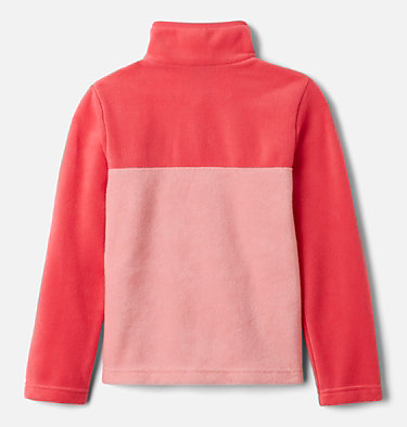 Girls' Steens Mtn™ Fleecepullover Steens Mtn™ 1/4 Snap Fleece Pull-over | 466 | XS, Pink Orchid, Bright Geranium, back