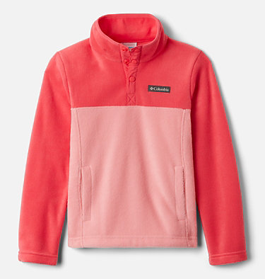 Girls' Steens Mtn™ Fleecepullover Steens Mtn™ 1/4 Snap Fleece Pull-over | 466 | XS, Pink Orchid, Bright Geranium, front