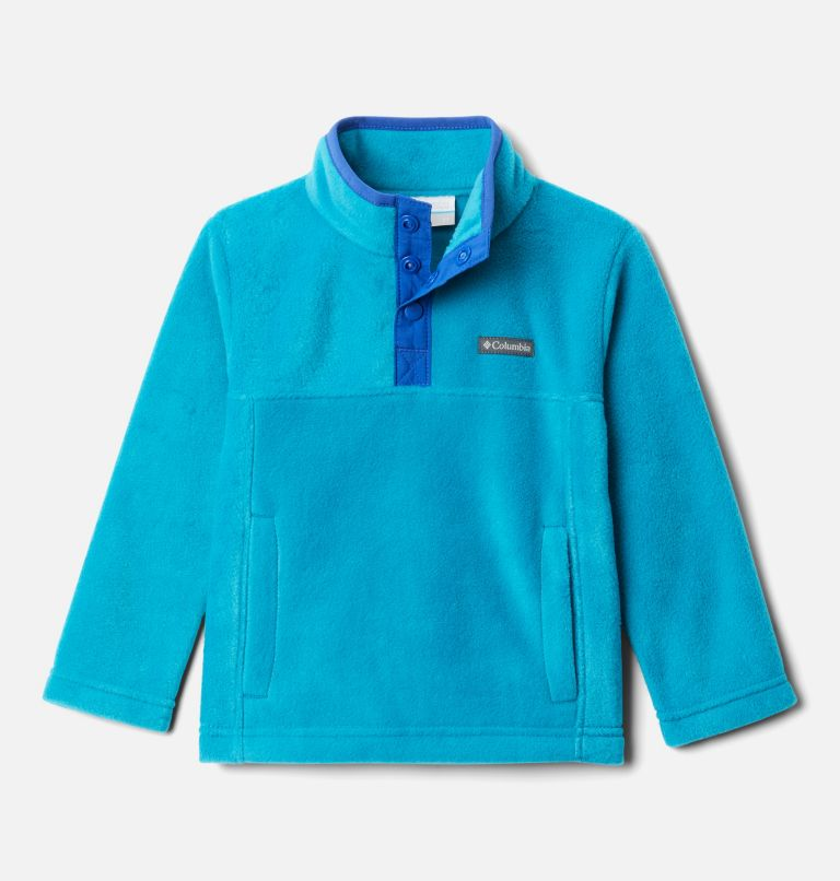 Steens Mtn™ 1/4 Snap Fleece Pull-over | 462 | 3T Toddler Steens Mtn™ Quarter Snap Fleece Pullover, Fjord Blue, Lapis Blue, front