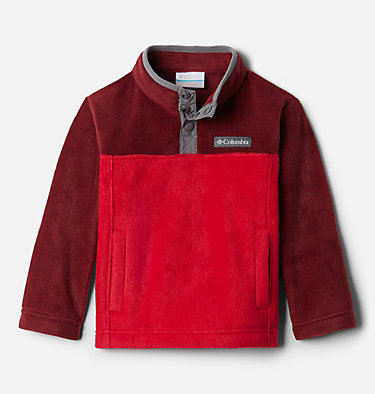 Toddler Steens Mtn™ 1/4 Snap Fleece Pull-over Steens Mtn™ 1/4 Snap Fleece Pull-over | 614 | 2T, Mountain Red, Red Jasper, front