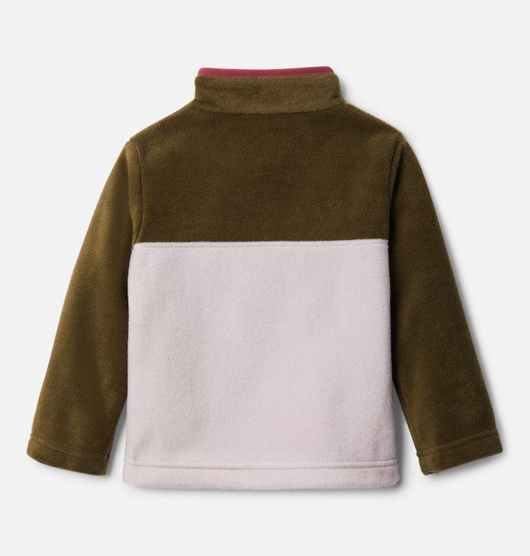 Steens Mtn™ 1/4 Snap Fleece Pull-over | 618 | 3T Toddler Steens Mtn™ Quarter Snap Fleece Pullover, Mineral Pink, New Olive, back