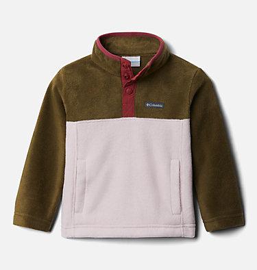 Toddler Steens Mtn™ 1/4 Snap Fleece Pull-over Steens Mtn™ 1/4 Snap Fleece Pull-over | 614 | 2T, Mineral Pink, New Olive, front