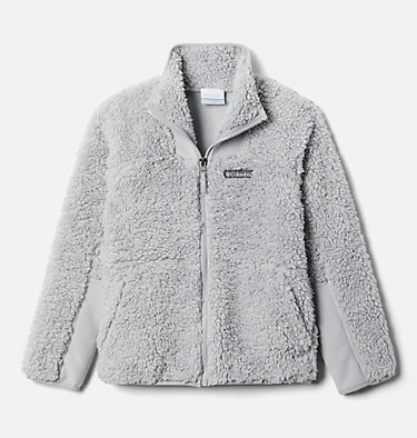 Chandail à fermeture éclair en Sherpa Winter Pass™ pour enfant Winter Pass™ Sherpa  Full Zip | 039 | M, Columbia Grey, front