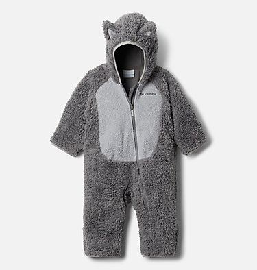 Foxy Baby Sherpa-Strampler für Babys Foxy Baby™Sherpa Bunting | 012 | 0/3, City Grey, Columbia Grey, front