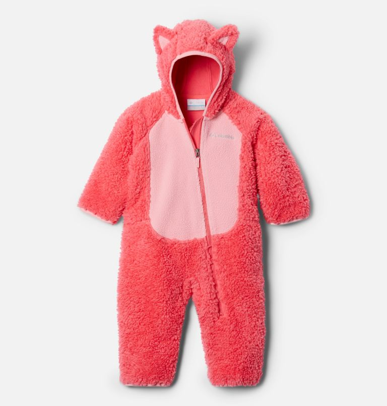 Foxy Baby™ Sherpa Bunting | 673 | 3/6 Combinaison en Sherpa Foxy Baby™ pour bébé, Bright Geranium, Pink Orchid, front