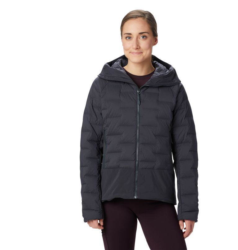 Super/DS™ Climb Hoody | 004 | XL Women's Super/DS™ Stretchdown Climb Hoody, Dark Storm, front