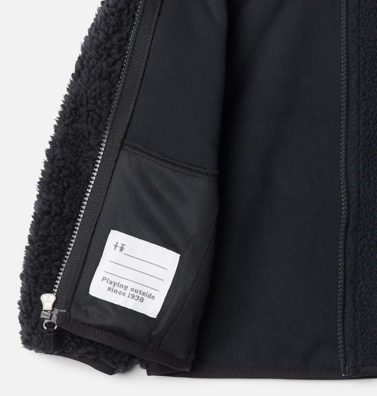 Foxy Baby™Sherpa Full Zip | 010 | 4T Toddler Foxy Baby™ Sherpa Jacket, Black, a1