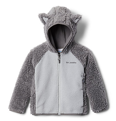 Toddler Foxy Baby™ Sherpa Jacket Foxy Baby™Sherpa Full Zip | 584 | 4T, City Grey, Columbia Grey, front