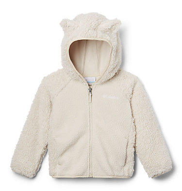 Toddler Foxy Baby™ Sherpa Jacket Foxy Baby™Sherpa Full Zip | 010 | 3T, Fawn, back