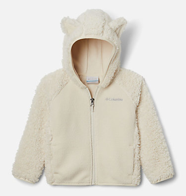 Toddler Foxy Baby™ Sherpa Jacket Foxy Baby™Sherpa Full Zip | 010 | 3T, Chalk, front