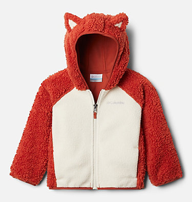 Toddler Foxy Baby™ Sherpa Jacket Foxy Baby™Sherpa Full Zip | 584 | 4T, Dark Sienna, Chalk, front