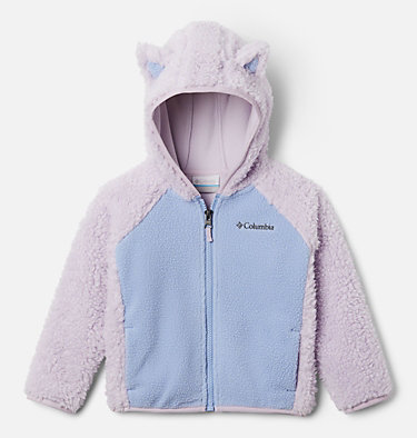 Toddler Foxy Baby™ Sherpa Jacket Foxy Baby™Sherpa Full Zip | 584 | 4T, Pale Lilac, Empress, front