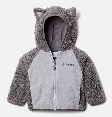 Infant Foxy Baby™ Sherpa Jacket Foxy Baby™Sherpa Full Zip | 248 | 0/3, City Grey, Columbia Grey, front