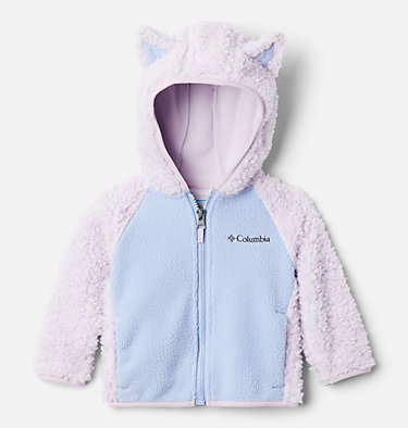 Infant Foxy Baby™ Sherpa Jacket Foxy Baby™Sherpa Full Zip   248   0/3, Pale Lilac, Empress, front