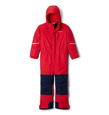 Youth Buga II Snowsuit Buga™ II Suit | 316 | L, Mountain Red, Collegiate Navy, front