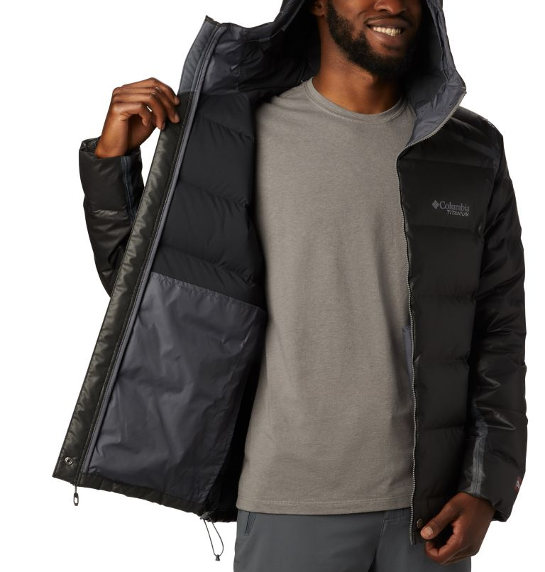 OutDry Ex™ Alta Peak™ Down Jacket | 010 | M Manteau en duvet OutDry Ex™ Alta Peak™ pour homme, Black Heather, a1