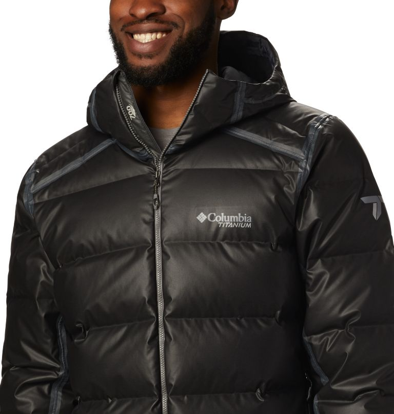 OutDry Ex™ Alta Peak™ Down Jacket | 010 | M Manteau en duvet OutDry Ex™ Alta Peak™ pour homme, Black Heather, a2