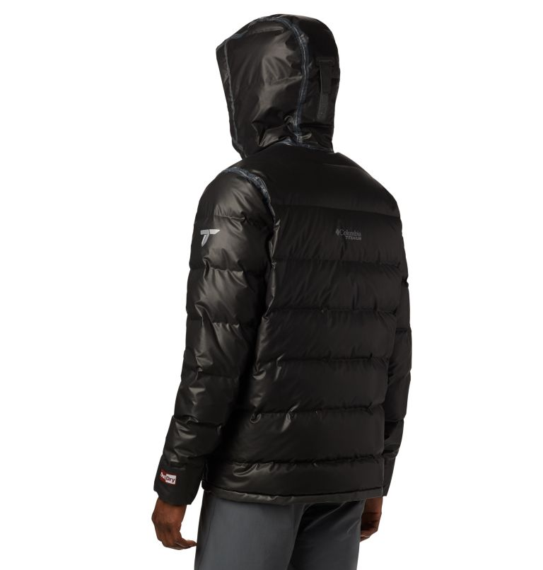OutDry Ex™ Alta Peak™ Down Jacket | 010 | M Manteau en duvet OutDry Ex™ Alta Peak™ pour homme, Black Heather, back