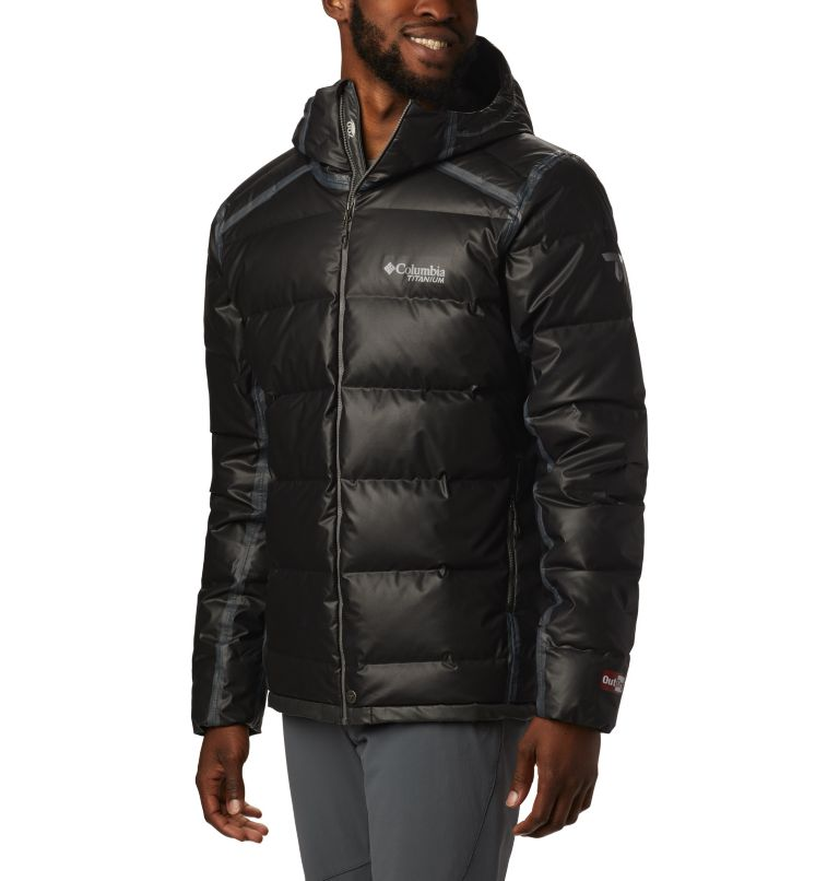 OutDry Ex™ Alta Peak™ Down Jacket | 010 | M Manteau en duvet OutDry Ex™ Alta Peak™ pour homme, Black Heather, front
