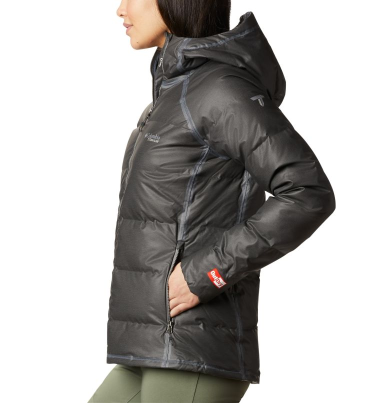 OutDry Ex™ Alta Peak™ Down Jacket | 010 | XS Women's OutDry Ex™ Alta Peak™ Down Jacket, Black Heather, a1