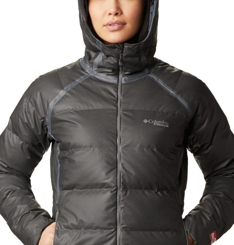 OutDry Ex™ Alta Peak™ Down Jacket | 010 | XS Women's OutDry Ex™ Alta Peak™ Down Jacket, Black Heather, a2