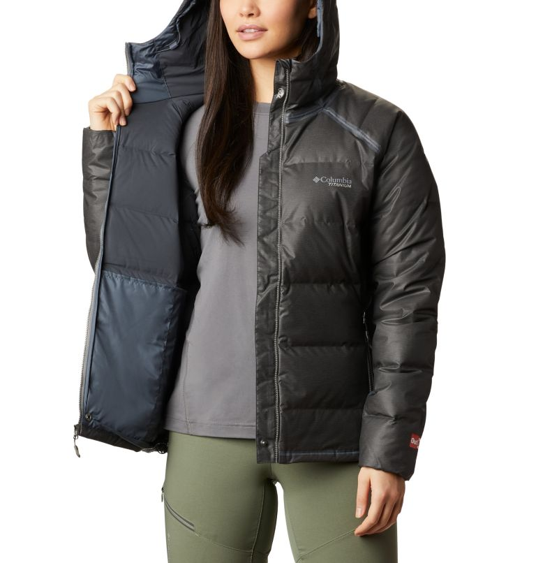 OutDry Ex™ Alta Peak™ Down Jacket | 010 | XS Women's OutDry Ex™ Alta Peak™ Down Jacket, Black Heather, a4