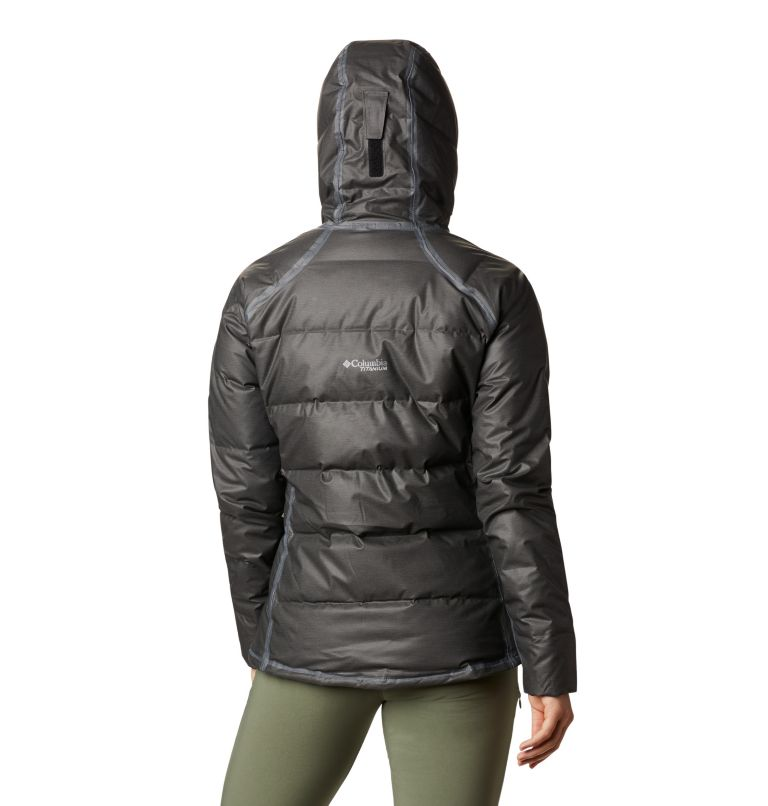 OutDry Ex™ Alta Peak™ Down Jacket | 010 | XS Women's OutDry Ex™ Alta Peak™ Down Jacket, Black Heather, back