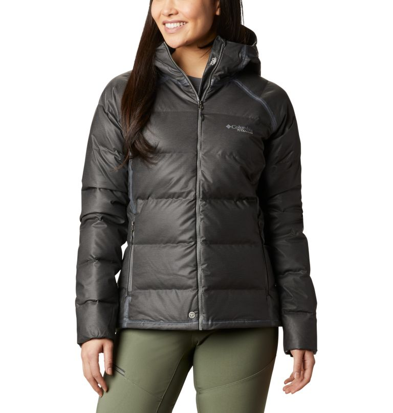 OutDry Ex™ Alta Peak™ Down Jacket | 010 | M Women's OutDry Ex™ Alta Peak™ Down Jacket, Black Heather, front