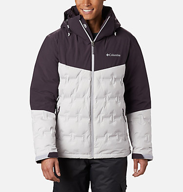 Wild Card Skijacke für Herren Wild Card™ Down Jacket | 011 | S, Nimbus Grey, Dark Purple, front
