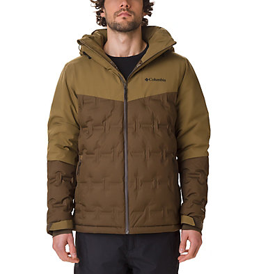 Men's Wild Card Ski Down Jacket Wild Card™ Down Jacket | 010 | L, Olive Green, Olive Brown, front
