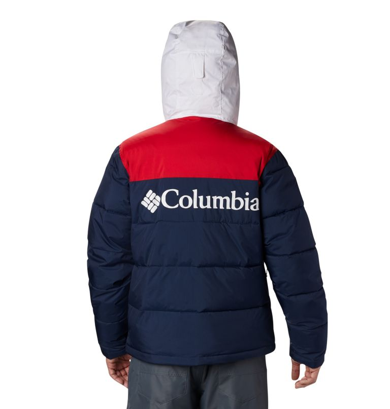 Iceline Ridge™ Jacket   464   XL Men's Iceline Ridge™ Jacket, Collegiate Navy, Mountain Red, White, back