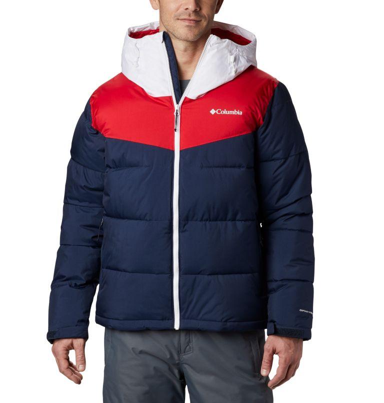 Iceline Ridge™ Jacket   464   XL Men's Iceline Ridge™ Jacket, Collegiate Navy, Mountain Red, White, front