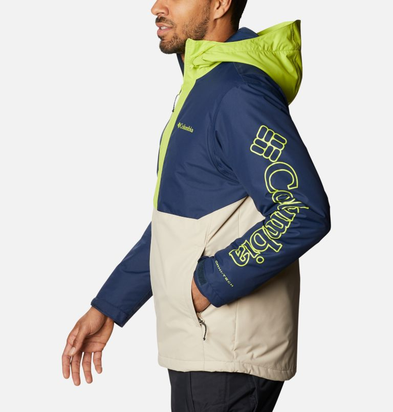 Timberturner™ Jacket | 271 | XL Men's Timberturner™ Insulated Jacket, Ancient Fossil, Coll Navy, Brt Chrtrse, a1