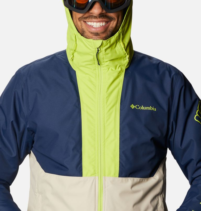 Timberturner™ Jacket | 271 | XL Men's Timberturner™ Insulated Jacket, Ancient Fossil, Coll Navy, Brt Chrtrse, a2