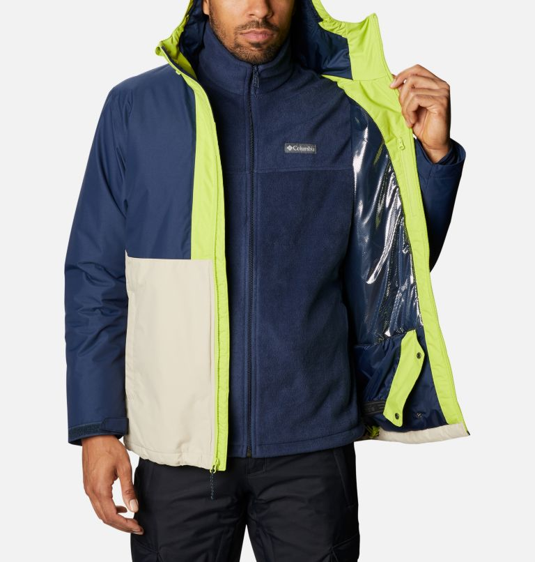 Timberturner™ Jacket | 271 | XL Men's Timberturner™ Insulated Jacket, Ancient Fossil, Coll Navy, Brt Chrtrse, a3