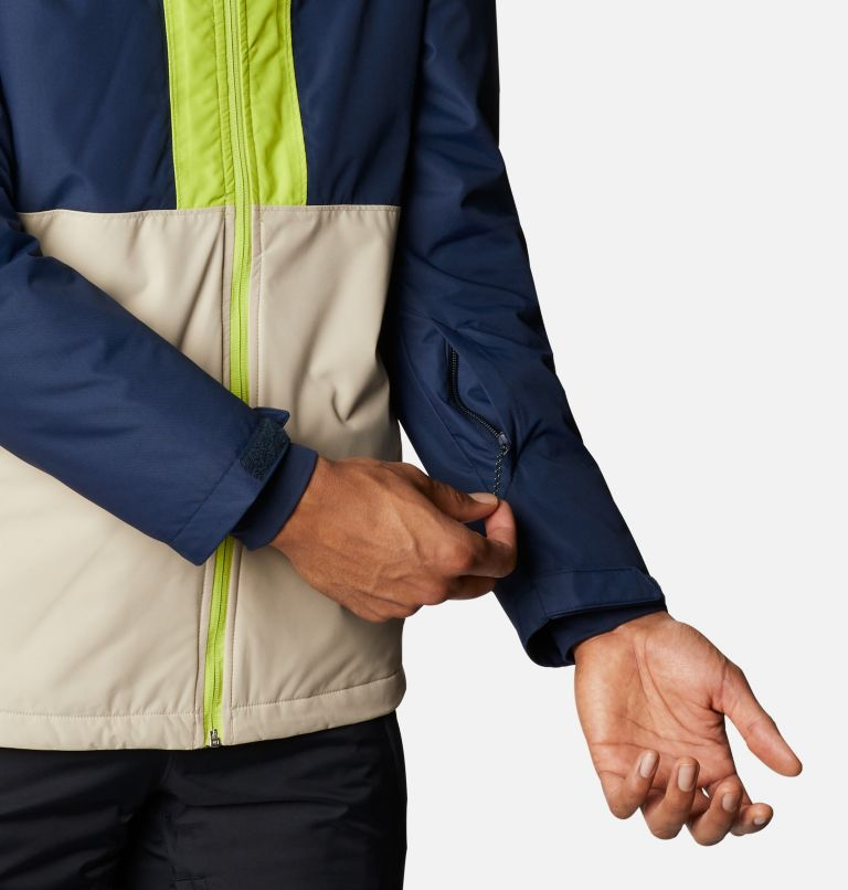 Timberturner™ Jacket | 271 | XL Men's Timberturner™ Insulated Jacket, Ancient Fossil, Coll Navy, Brt Chrtrse, a4