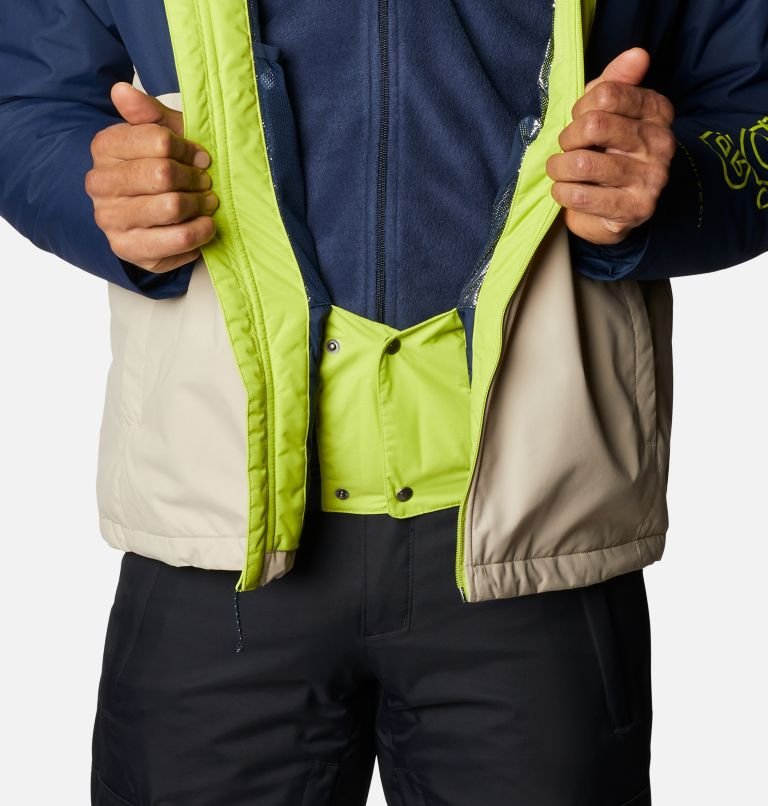 Timberturner™ Jacket | 271 | XL Men's Timberturner™ Insulated Jacket, Ancient Fossil, Coll Navy, Brt Chrtrse, a5